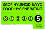 We have a hygiene rating of 5 at all our premises